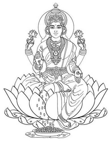 hindu gods printable coloring pages - photo#26