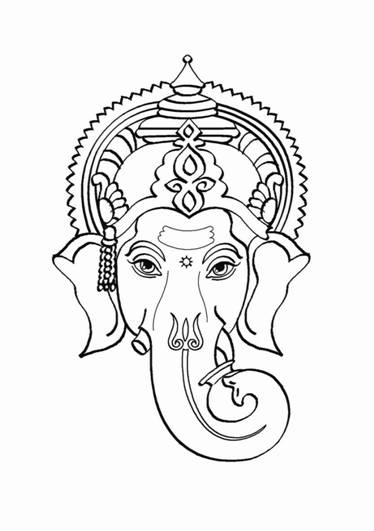 Hindu Gods Pencil Coloring Pages Hinduism Coloring Pages